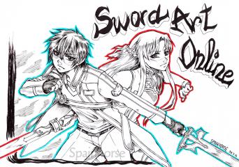 Asuna y Kirito SPAINHORSE - redes